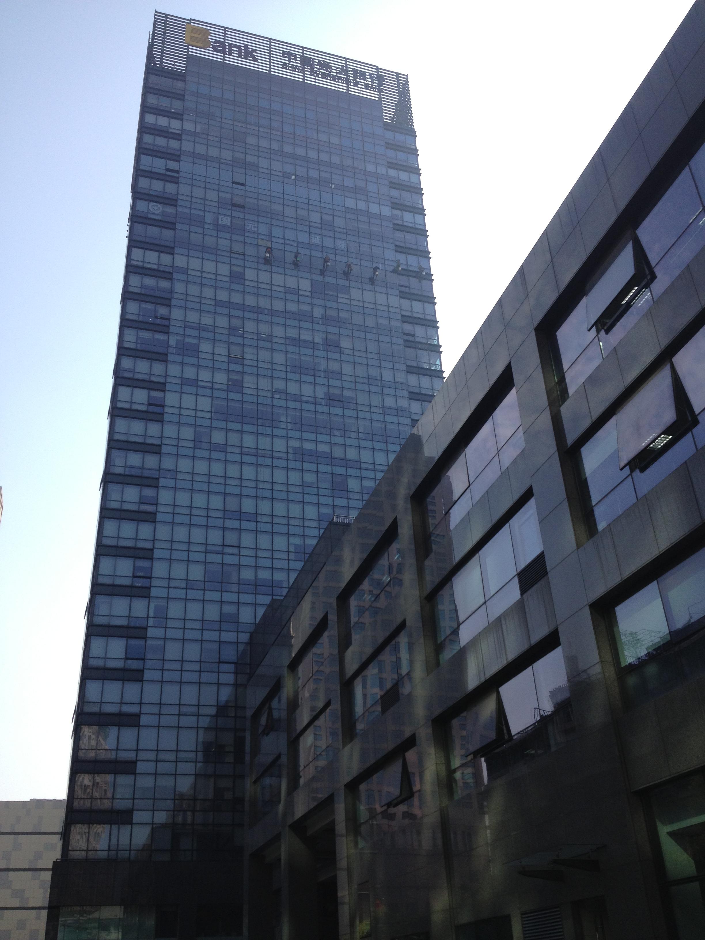 浙江时代大厦外墙清洗